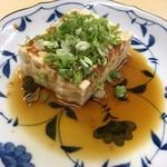 116918347 - おでん 豆腐(生姜醤油か味噌ダレを選べます)