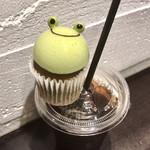 116919665 - モーニングケーキセット600円(税込)                       ✿抹茶カエル                       ✿アイスコーヒー
