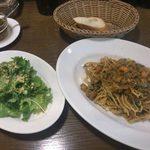 DE NIRO - 「鶏ひき肉と野菜のキーマカレースパゲッティ」1,080円