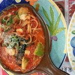 ベリー・ストロベリー - アボガドとお野菜のチーズトマトソース