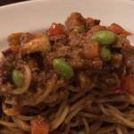DE NIRO - 2019.9.25  鶏ひき肉のキーマカレー スパゲッティ