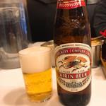 うどん 丸香 - なんぼ急いでいても、ビールは飲むよねw