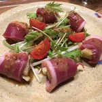 遊家 - 合鴨と焼茄子の粒マスタードソース