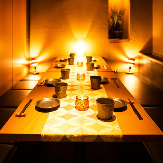 こだわりの個室は和洋が織り成す上質な個室空間。2名様〜ご案内