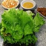 11694204 - サムギョプサルのタレや野菜類