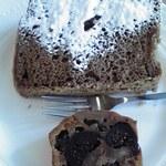柞の杜 - シフォンケーキ&イチヂクのチーズケーキハーフ&ハーフ