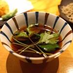 神山 - 天せいろの蕎麦汁
