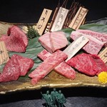 Matsunagabokujou - 本日のおまかせ部位5種盛り(2人前:ミスジ、三角バラ、フランク、イチボ、サーロイン、マルシン)3564円