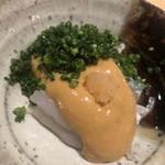 鮨 さかい - 虎河豚と鮟肝のポン酢割りソース