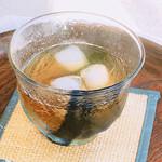 川上備芳園 - サービスのお茶