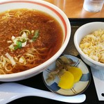 昭和軒 - 「ジャジャ麺+ミニ炒飯(¥780)」