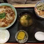 きそば 札幌 小がね - ミニ天丼セット