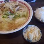 茨城タンメン カミナリ - 料理写真:茨城タンメン(タンギョウセット)