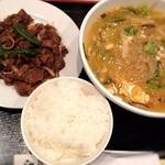 11698195 - 冬期限定チゲ風温麺セット1,100円