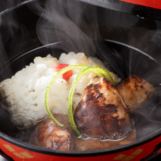 名残り鱧と松茸料理