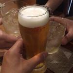 ヒロ ムネトモ - ガシ飲み2軒目にカンパーイ ♪