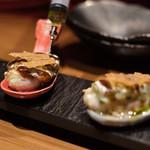 創作鉄板 粉者焼天 - 牡蠣のワンスプーン