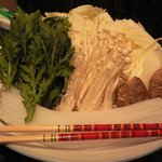 和多花 - 地鶏のつみれ鍋-野菜