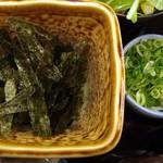 鰻彩 のとや - うな茶漬け膳・薬味