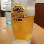 日高屋 - 一番搾り290円