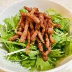 まっちゃげ - カリカリベーコンと水菜のサラダ