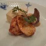 117012502 - ヤリイカ紹興酒漬け、真蛸粒マスタード、モッツァレラチーズ