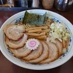 117014706 - 2019年9月 中華そば+肉盛り 650+300円