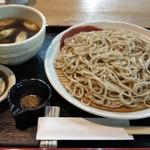 亀八庵 - 合鴨スモークつけ麺(1100円税込)