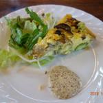 L'AUTRE MAISON 西の洞 - 前菜の秋野菜のオムレツ