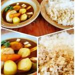 マハラジャ - 野菜とクリームチーズのカレー(白米と玄米のハーフ&ハーフ)
