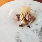 Azabuasai - 桜鱒とアスパラ
