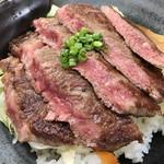なすとらん - 料理写真:那須和牛ステーキ丼¥2500