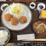 なすとらん - 那須和牛コロッケ定食¥950