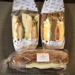 ザ・サンドイッチスタンド - 3種類購入しました。価格はそれぞれ外税。