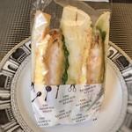 ザ・サンドイッチスタンド - 海老カツとアボカドエッグ(450円)