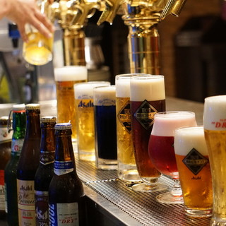 アサヒビール直営ならではのビールのラインナップ!