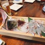 釣船茶屋 ざうお - シマアジの刺身 (釣り)