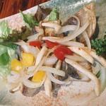 釣船茶屋 ざうお - シマアジのバター焼き (釣り)