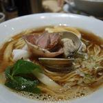 むぎとオリーブ - 料理写真:蛤•鶏•煮干しのトリプルSOBA(1,000円)