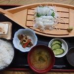 ふしみ食堂 - 2019年9月 赤イカさしみ定食 1500円