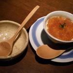 月 - 納豆のムース 柚子胡椒ゼリー添え ¥735
