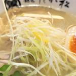 麺匠 たか松 - 白髪ねぎ&柚子
