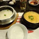 スントゥブ オッキー - 石釜ご飯と牛肉スントゥブ(1辛)