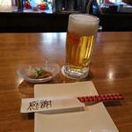 まりんぼっくす - オリオンビール(^_^)/□&お通し