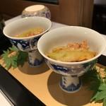 117057913 - 発酵唐辛子の茄子と車海老の料理