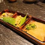 酒肴旬漁 狸穴 - 秘密の珍味三種盛