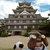 お城茶屋 - 岡山城はまっ黒でかっこいいな~別名、烏城(からすじょう)って呼ばれてるよ。慶長2年(1597)豊臣家五大老の一人・宇喜多秀家が築城、三層六階の天守閣は織田信長の安土城天守閣を模して築かれたとか、、