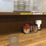 スパゲティ屋くぼやん - テーブルセッティング