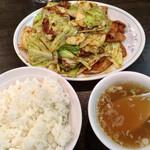 福来軒 - 「回鍋肉定食」@950(税込)