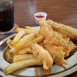 まるたま - フィッシュ&チップス と 牡蠣フライ